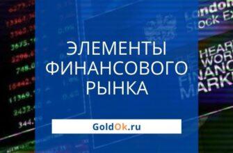 Структурные подразделения и элементы финансового рынка