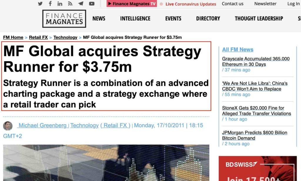 Продажа компании Strategyrunner