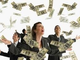 много денег