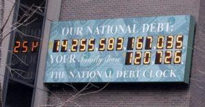 счетчик в америке, который считает долги страны